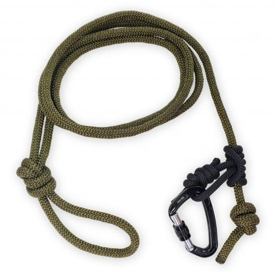 Tether with Prusik and Carabiner
